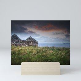Ruin by the Sea Mini Art Print