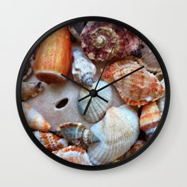 Seashells by the Seashore Wall Clock