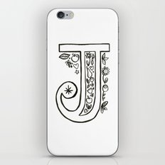 j is for iPhone & iPod Skin