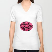 hibiscus V-neck T-shirts featuring Hibiscus   by maggs326