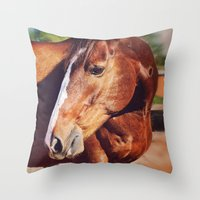 frank Throw Pillows featuring Frank by Images by Nicole Simmons