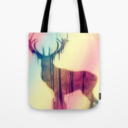 Deer colorful Tote Bag
