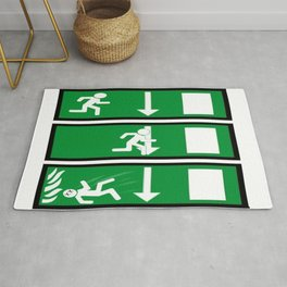 Fire Exit Funny. Rug