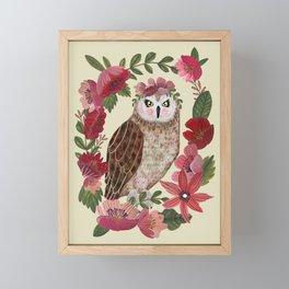 Floral Owl Framed Mini Art Print