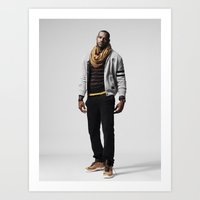 lebron Art Prints featuring LeBron James by Proxima District