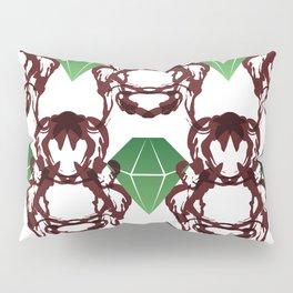 Emeralds & Demons [WHITE] Pillow Sham