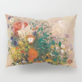 Odilon Redon - Vase of Flowers (1906) Pillow Sham