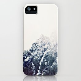 Vintage Snowy Mountain iPhone Case