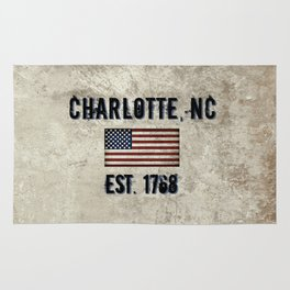 Tribute to Charlotte, NC, EST. 1768 Rug