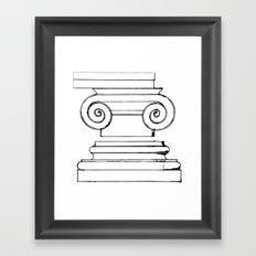 Classic Ionic Style Framed Art Print