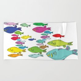 FISHpaint Beach Towel