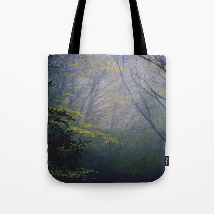 In the fog  Tote Bag