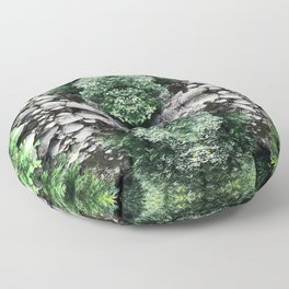 Abstract Forest 1416 Floor Pillow