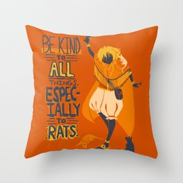 Ozymandias, King of Rats - Be Kind Throw Pillow