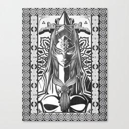 Legend of Zelda Midna the Twilight Princess Line Work Canvas Print