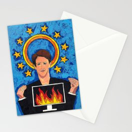 Patron Saint of Cable News Stationery Cards