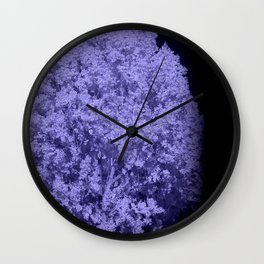 poplar infrared photography Wall Clock