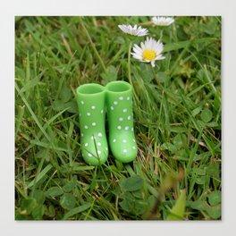 Little boots Canvas Print