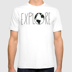 Explore the Globe White SMALL Mens Fitted Tee