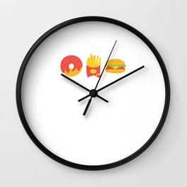 Cute & Funny Recovering Carboholic Carb Dieting Wall Clock