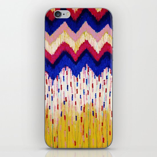 SHINE ON, Revisited - Americana Red White Blue USA Abstract Acrylic Painting Home Decor Xmas Gift iPhone & iPod Skin