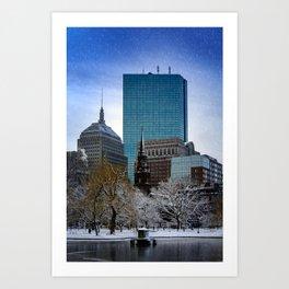 Winter in Boston Art Print