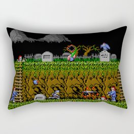 Ghost And Goblins Gameplay Rectangular Pillow