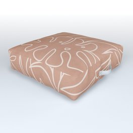 Engraved Tropical Line Outdoor Floor Cushion