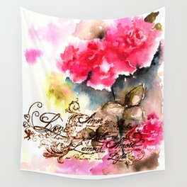 Roses Card Wall Tapestry
