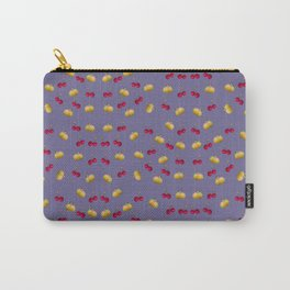 cherries and plums on ultraviolet background Carry-All Pouch