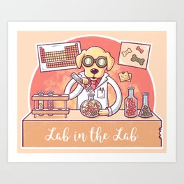 Lab in the Lab Art Print