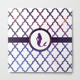 Mermaids: Galaxy Moroccan Pattern Metal Print