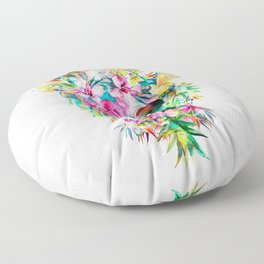 Tropical Skull Floor Pillow
