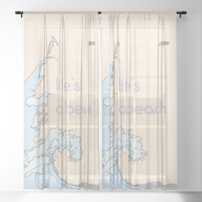 Sheer Curtain By Alphavariable Society6