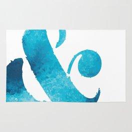 Ampersand Blue Rug