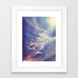 Cloud Chair Framed Art Print