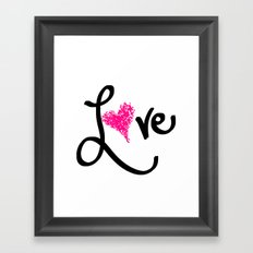 Love with your heart Framed Art Print
