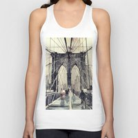 brooklyn bridge Tank Tops featuring Brooklyn Bridge by takmaj