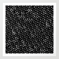Dotted - Black Art Print