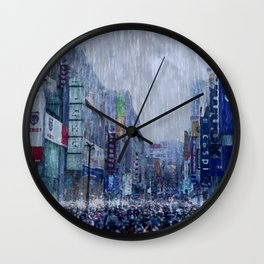 The Downpour Wall Clock
