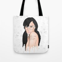 glasses Tote Bags featuring Glasses by Jasocorp
