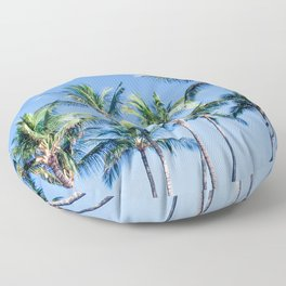 Palms in Living Harmony Floor Pillow