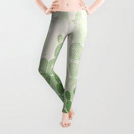 Linocut Cactus #1 Leggings