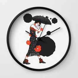 Could be U & Me Illustration Wall Clock