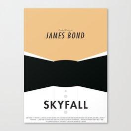 James Bond Skyfall - Minimalist Poster Canvas Print