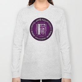 Joshua 24:15 - (Silver on Magenta) Monogram F Long Sleeve T-shirt