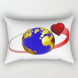 love is all around, #hatetolove Rectangular Pillow