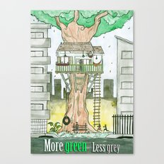 More Green Less Grey Canvas Print