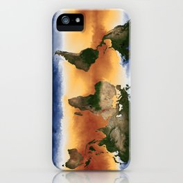 A Portrait of Global Sea Surface Temperatures iPhone Case