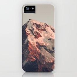 Annapurna peak iPhone Case
